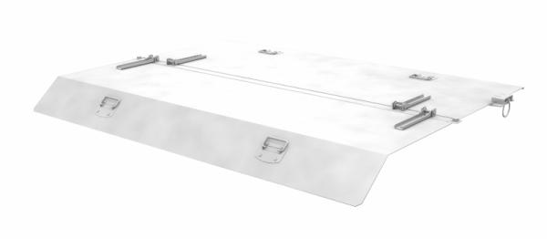 Bauer 2-teiliger verzinkter Deckel für Mini-Kippbehälter Typ MGU 610