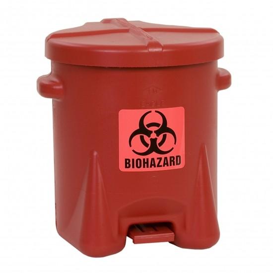 Eagle BioHazardous Entsorgungsbehälter 943BIO, 22,8 L, Polyethylen (PE), rot, mit Fußpedal