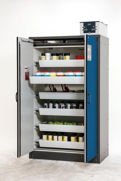 asecos Sicherheitsschrank Q30.195.116 mit Vollauszügen zur Lagerung entzündbarer Chemikalien