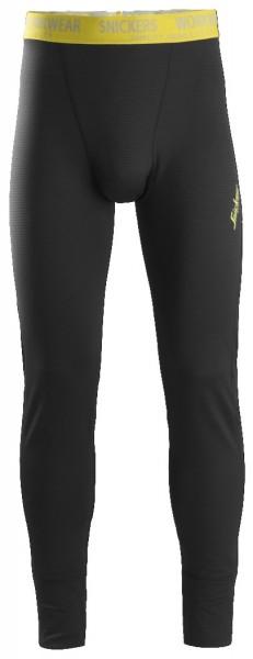 Snickers Workwear 9434 Body Mapping Micro Fleece Arbeitsunterhose, schwarz