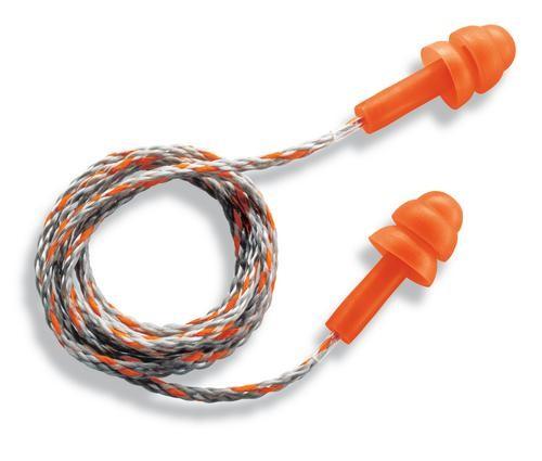uvex Mehrweg-Gehörschutzstöpsel whisper mit Kordel, 23 dB, orange, 50 Paar