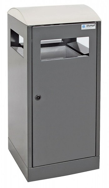 Stumpf Metall Abfalltrennung A³-ES für Außenbereiche, anthrazitgrau/Edelstahl, 40 Liter