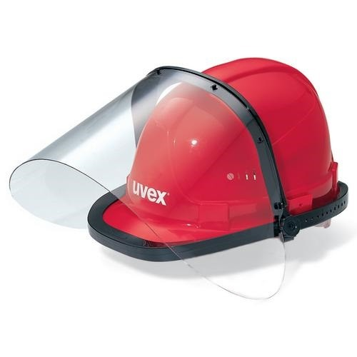 uvex Visier 9723 unbeschichtet mit Helmhalterahmen