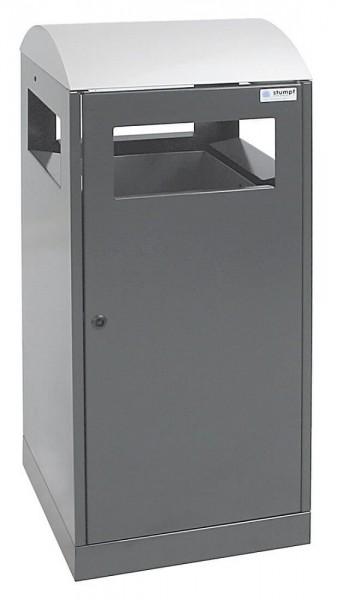 Stumpf Metall Abfalltrennung A³-ES für Außenbereiche, anthrazitgrau/Edelstahl, 90 Liter