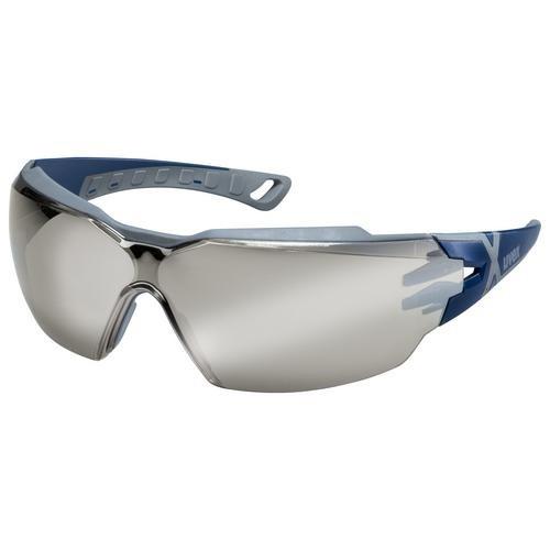 uvex Schutzbrille pheos cx2, 9198885, Silberspiegel, Sonnenschutz