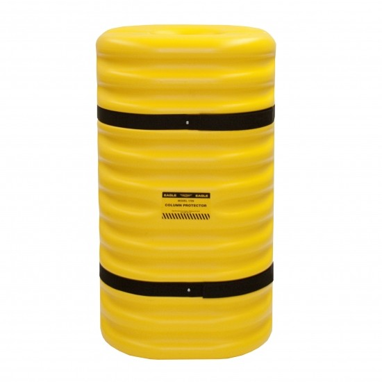 Eagle 1706 Säulenschutz, 61 x 61 x 106,7 cm, HDPE, gelb, für 15 cm Säulen