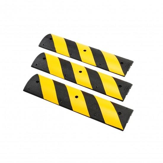 Checkers Easy Rider® Bremsschwellen, Gummi, 120 x 30 x 5,6 cm, schwarz/gelb