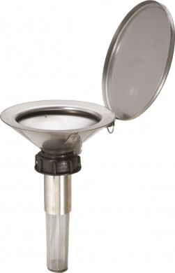 Einfülltrichter Edelstahl flach mit Überwurfmutter