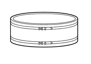Fumex flexibles Anschlussstück FBD 055, für Ventilator Typ FB 037 und FB 055