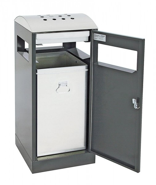 Stumpf Metall Abfalltrennung A³-AA, Abfall-/Ascher für Außenbereiche, 40 Liter