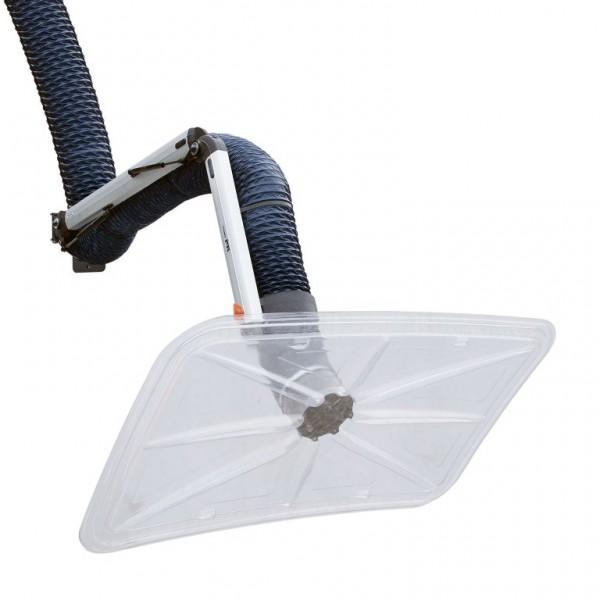 Fumex Absaugarm PRG Ø 160mm, mit Windschutzscheiben-Haube, für industrielle Umgebungen