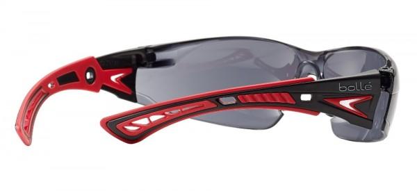 bolle Schutzbrille RUSH+ - RUSHPPSF Rauchglas PC, Bügel rot / schwarz, PLATINUM
