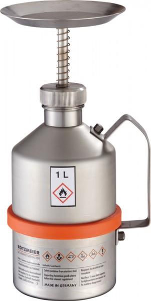 Rötzmeier Sparanfeuchter 1 Liter Typ SP1 aus Edelstahl unpoliert