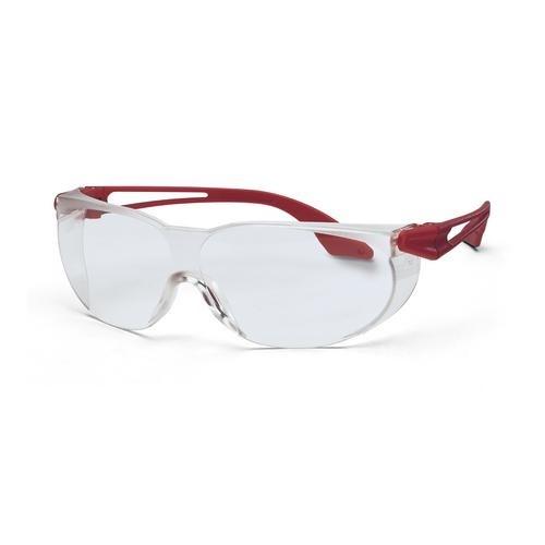 uvex Schutzbrille 9174095 skylite rot metallic, PC farblos, kratzfest, chemikalienbeständig
