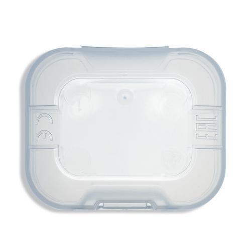 uvex Gehörstöpselbox für Gehörschutzstöpsel, transparent