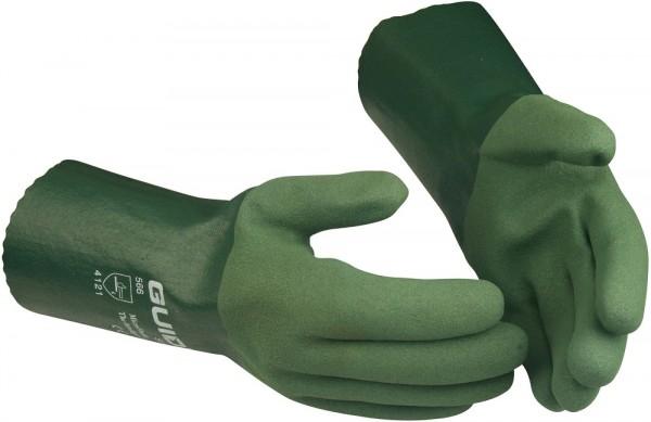 Sicherheitshandschuhe 566 Guide mit langer Stulpe, Nitrilschaum-Vollbeschichtung, flüssigkeitsdicht