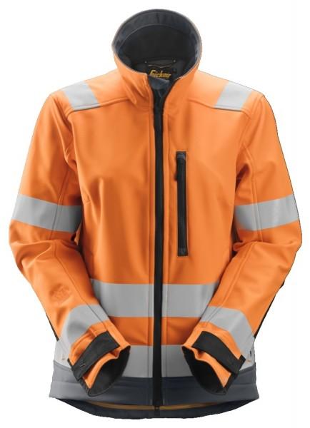 Snickers Workwear 1237 AllroundWork Damen High-Vis Softshell Arbeitsjacke, Klasse 2/3