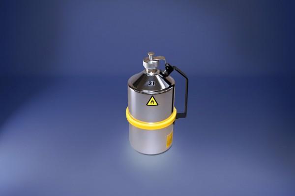 Original Salzkotten Sicherheits-Laborkanne Typ 101, 2 Liter, Schraubkappe, Überdruckventil