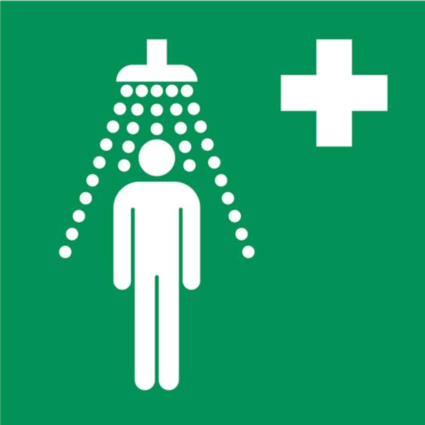 B-Safety Hinweisschilder für Notduschen, gemäß ISO 7010