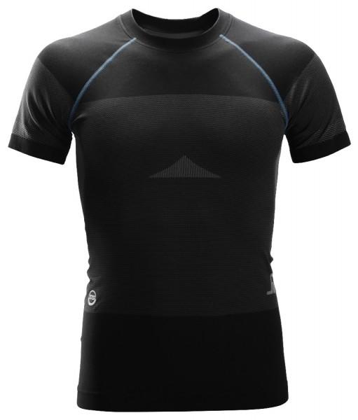 Snickers Workwear 9419 LiteWork Nahtloses 37.5 Kurzarm-Shirt, schwarz/grau
