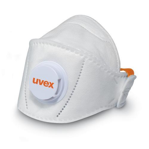 uvex Atemschutzmaske silv-Air premium 5210+ FFP2 NR D, Faltmaske mit Ventil