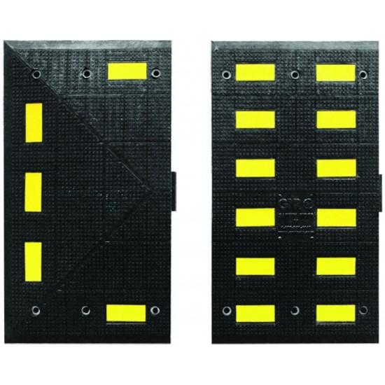 Checkers Safety Rider® Temposchwelle Vulcanisiert 90 x 50 x 5,1 cm, schwarz/gelb