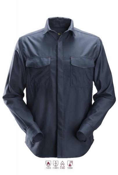 Snickers Workwear 8561 ProtecWork Langarmhemd, navy, Hitze-, Flamm-, Lichtbogenschutz