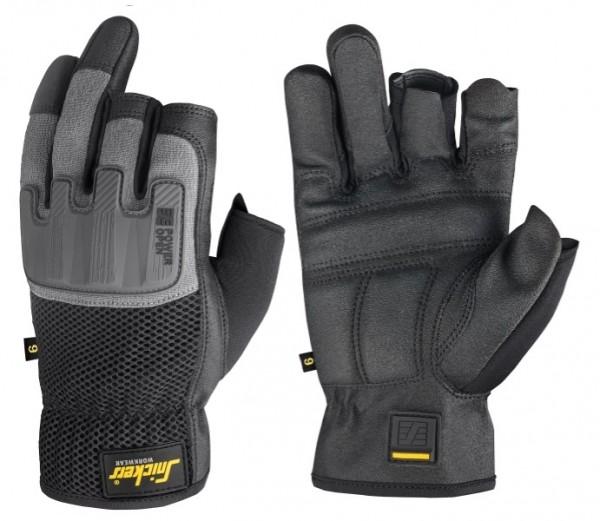 Snickers Workwear 9586 Power Open Handschuhe, schwarz/steingrau
