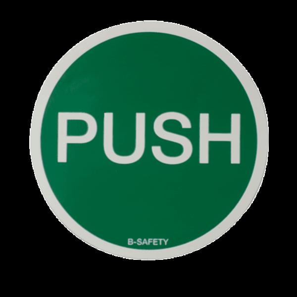 """B-Safety Schild """"PUSH"""" F2120 für Augenduschen, langnachleuchtend"""