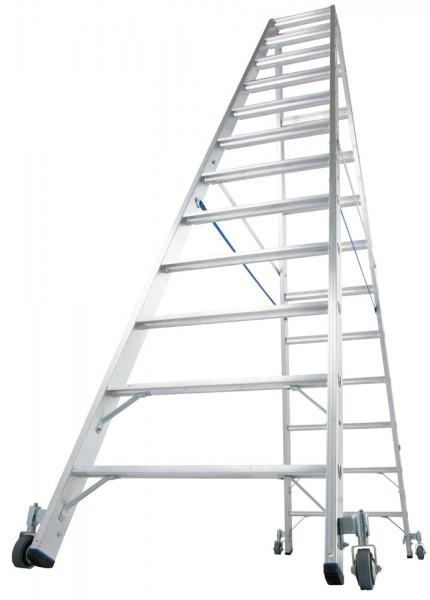 Krause STABILO Stufen-Doppelleiter, fahrbar