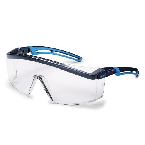 uvex Schutzbrille astrospec 2.0, 9164065, blau/hellblau, PC farblos