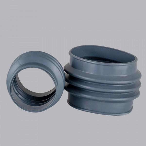 Manschette gewellt für Ventilatoren PVC