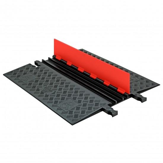 Checkers Guard Dog Low Profile 3-Kanal-Kabelschutz, Klappdeckel, orange/schwarz, 91x77x3,2 cm
