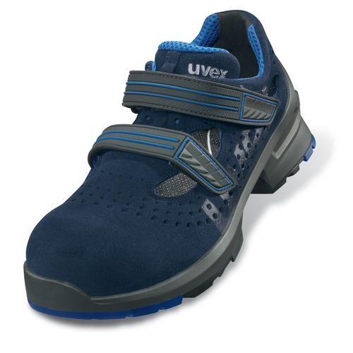 Sicherheitsschuhe uvex 1 Sandale S1 SRC, Modell 8530, dunkelblau/blau, ESD-zertifiziert