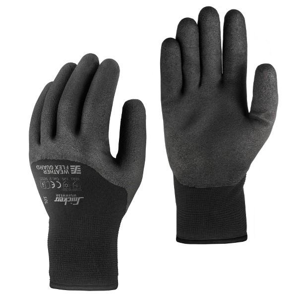 Snickers Workwear 9325 WETTER Flex Guard Schutzhandschuhe schwarz für den Winter