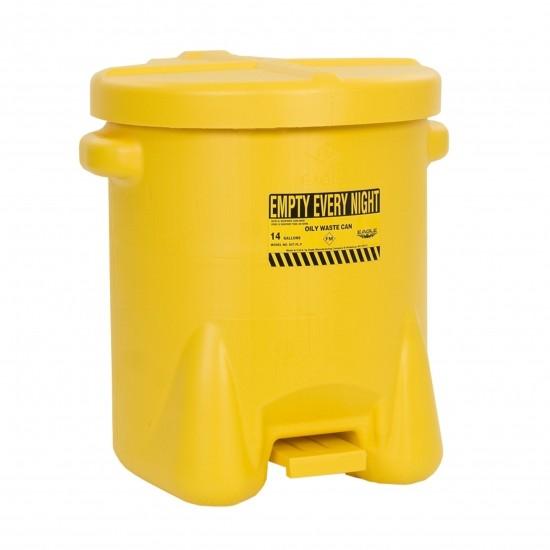Eagel Entsorgungsbehälter 937FL, 53 L, Polyethylen (PE), mit Fußpedal