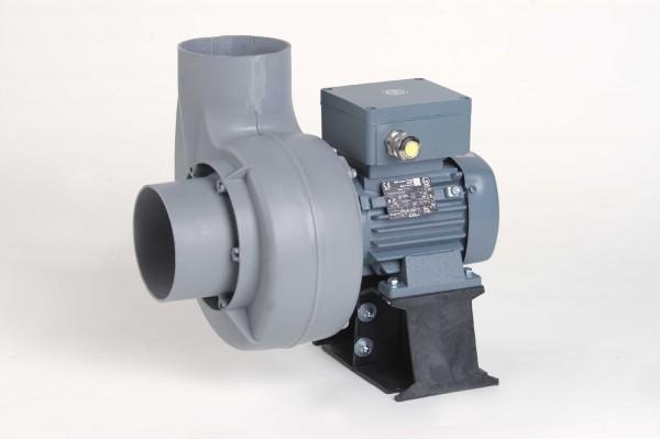 Kleinradialventilator FRv 110+/2/C/EX, EEx e II T3, 50-735 m³/h, 2-polig, mit Konsole