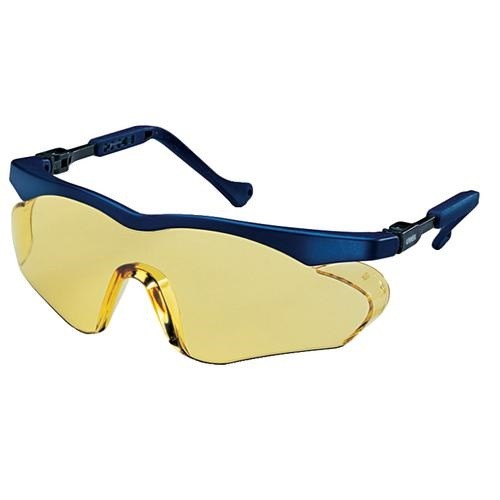 uvex Schutzbrille 9197020 skyper sx2 blau, PC amber, kratzfest, chemikalienbeständig
