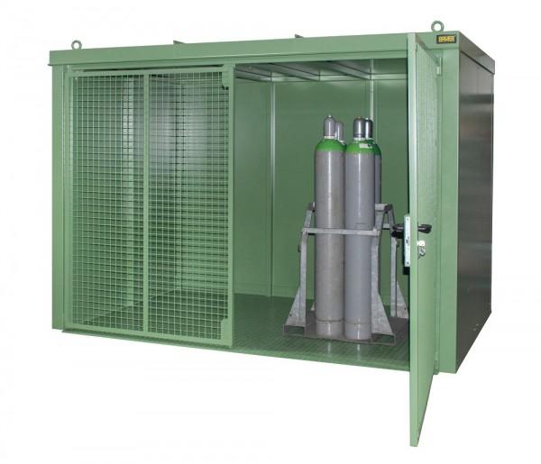 Bauer Gasflaschen-Container Typ GFC-B M5 Feuerbeständig, F90, DIN 4102, Lagerung nach TRGS 510