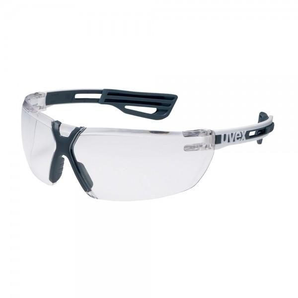 uvex Schutzbrille x-fit pro mit Slidern, 9199005, weiß/anthrazit, PC farblos