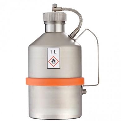 Sicherheits-Transportkanne 1 Liter Edelstahl Rötzmeier mit Schraubkappe
