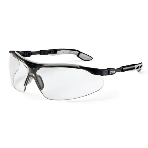 uvex Bügelbrille 9160275 i-vo, schwarz/grau, PC farblos, Bügellängenverstellung