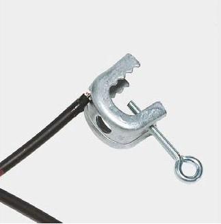 Erdungskabel verzinkt mit 2 C-Klemmen, 2 m