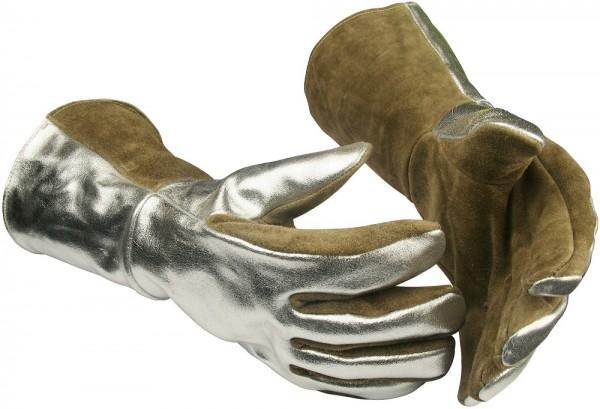 Schwere Hitzeschutz-Handschuhe 350A Guide aus Leder, Gr. 10, Fauster rechts, aluminisiert