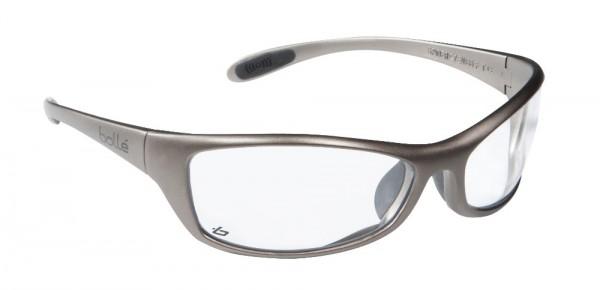 bolle Schutzbrille SPIDER - SPIPSI, klares PC, rutschfester Nasensteg, Sport Bügel