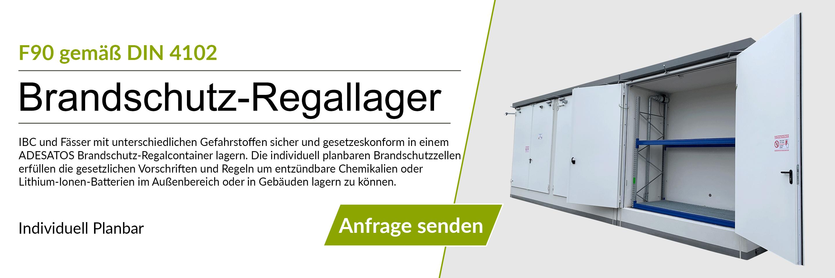 F90 Regal-Brandschutzcontainer auch für Lithium-Ionen-Batterien