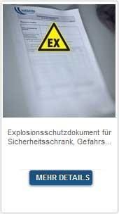 Explosionsschutzdokument für Sicherheitsschrank, Gefahrstoffcontainer und Gefahrstofflager