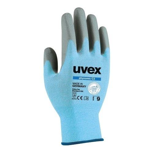 uvex Schnittschutzhandschuhe phynomic C3 sky blue, hautverträglich und frei von Schadstoffen
