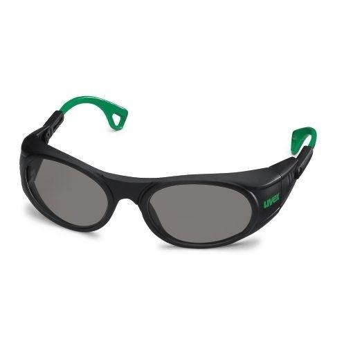uvex Schweißerschutzbrille 9116041 schwarz / grün, PC grau, 1,7, anpassbare Bügelenden