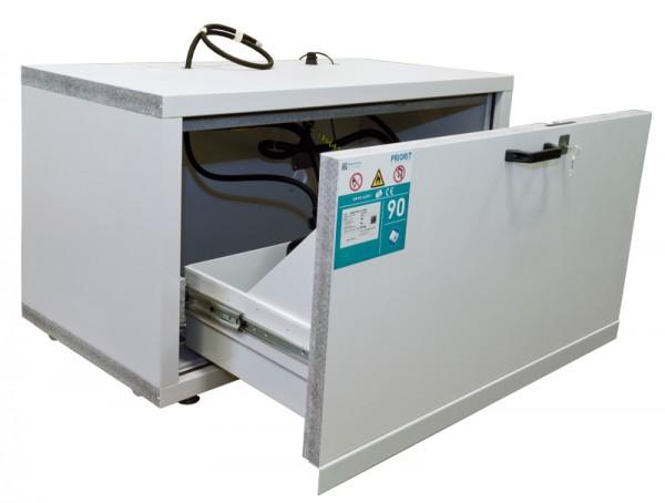 Priorit Untertisch-Sicherheitsschrank Priocab Typ90, EN90U:063-110-1AFB mit einem Vollauszug